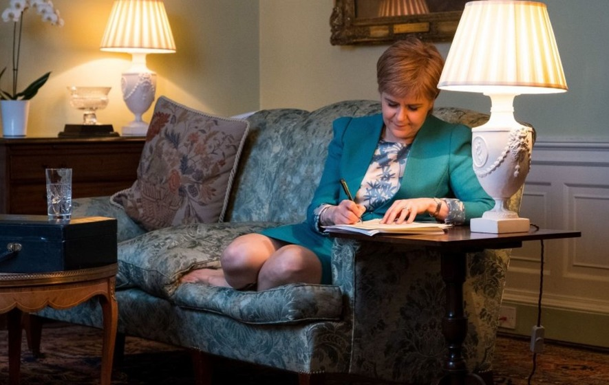 Nicola Sturgeon has written a letter requesting a second Scottish independence referendum
