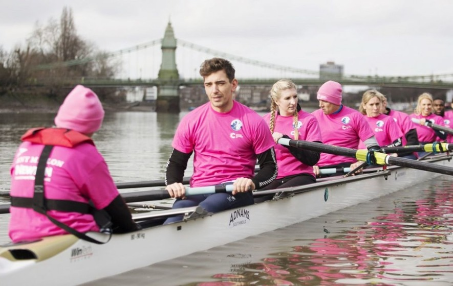 Celebrities tackle the Boat Race for charity