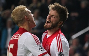 Ajax's Lasse Schone scored a free kick from so far out Feyenoord hadn't even bothered with a wall