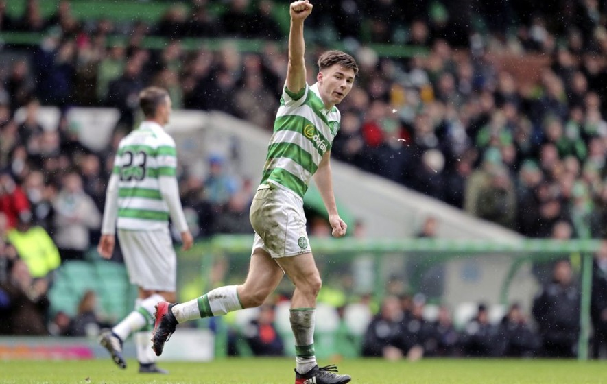 Celtic's Kieran Tierney playing with a smile on his face after title victory