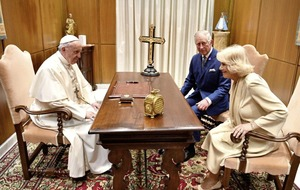 Pope urges Prince Charles to work for peace