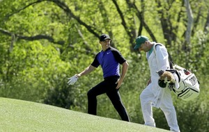 Rory McIlroy late into the action on day one at the US Masters