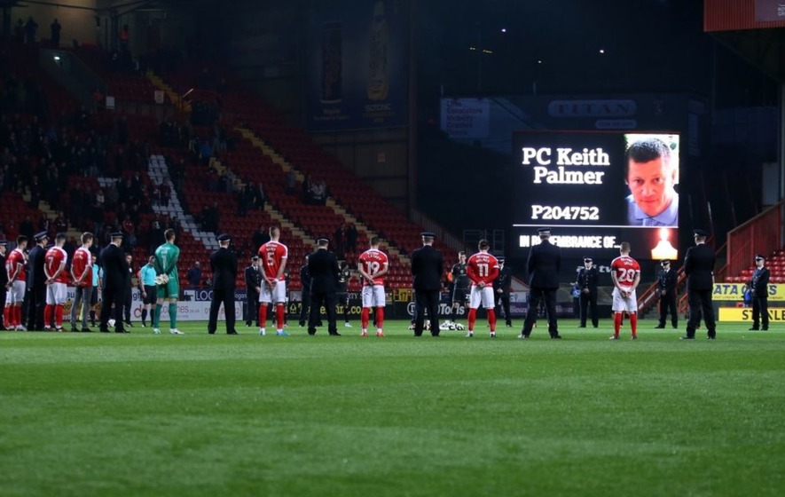 Charlton Athletic paid tribute to PC Keith Palmer ahead of their League One  game against MK Dons