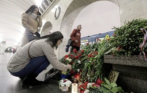 Home of suspected St Petersburg subway bomber searched