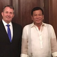 Liam Fox's visit to the Philippines has been met with some serious criticism