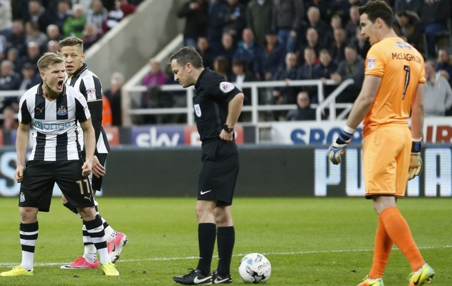 Here's Newcastle's Twitter to run you through the baffling penalty decision that went against them