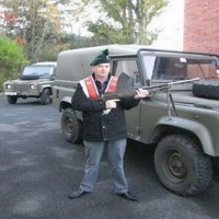 Willie Frazer has the gun and the army vehicle but forgets one important detail...