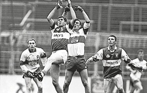 In The Irish News on Apr 7 1997: Hugh Emerson hat-trick for Laois sends Derry crashing