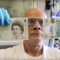 Watch these scientists test the new £5 note to its limits