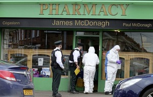 Pharmacists stabbed in daylight drugs robbery