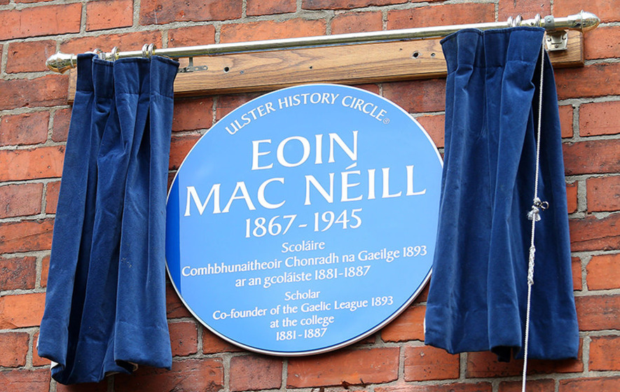 Eoin Mac Neill plaque unveiled at his old school in Belfast