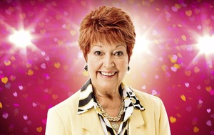 Ruth Madoc kicks up her heels for a wedding party in the Grand Opera House