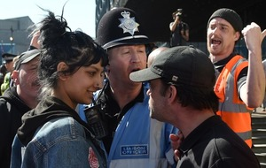 Video: This is how it felt to face down an EDL leader at a rally in Birmingham