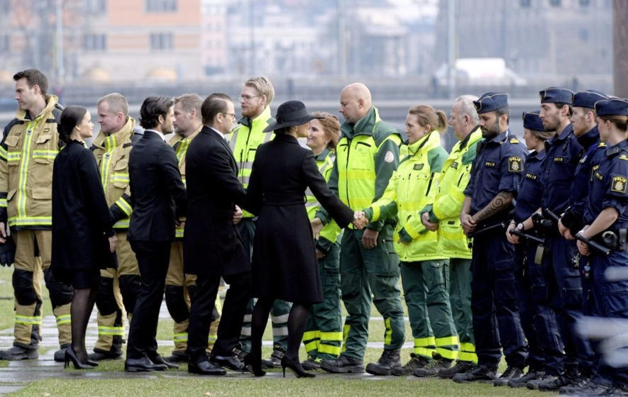 Swedes hold minute of silence for truck attack victims