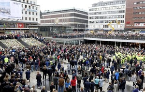 Minute's silence held for Stockholm lorry attack victims