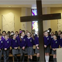 Schools come together to follow the Stations of the Cross