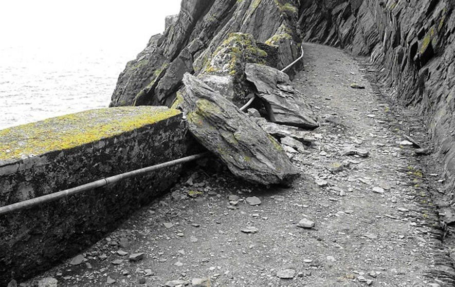 Skellig Michael: 'Worrying' rockfall reported at world heritage site