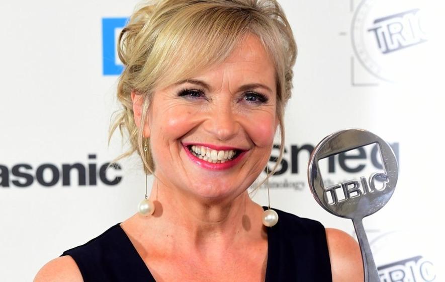 Carol Kirkwood admires a 'fine piece of wood' and BBC ...