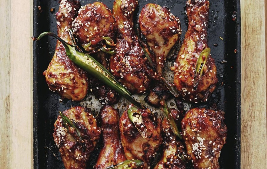 James Street South Cookery School: Sticky chicken with chocolatey Easter afters