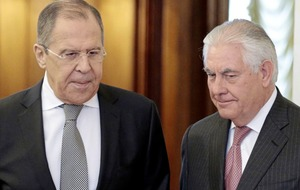 """US and Russian foreign ministers meet to clear up """"sharp differences"""""""