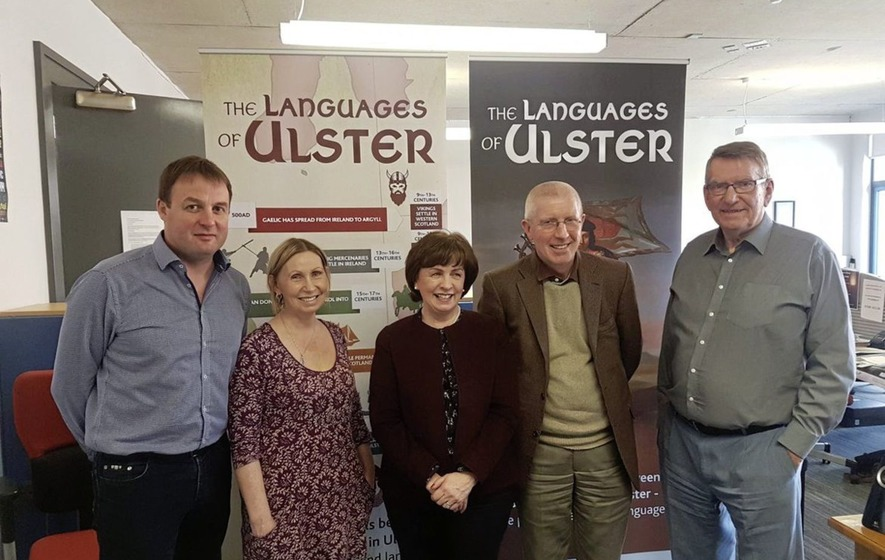 DUP MEP Diane Dodds met Irish language students during visit to east Belfast charity
