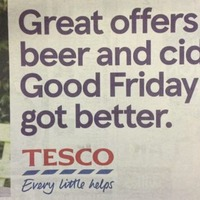 Tesco apologises for Good Friday beer advert