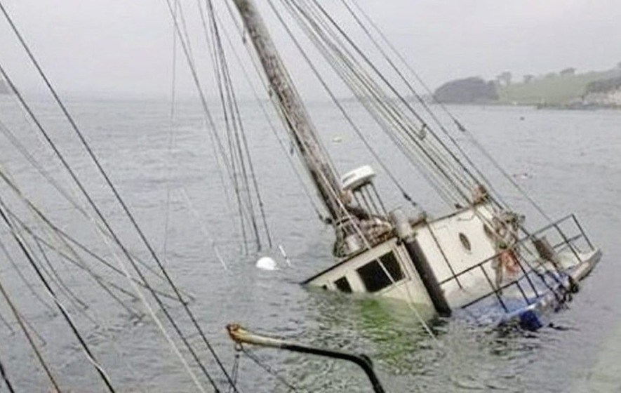 Concern as boat sinks further on Strangford Lough