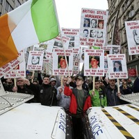 British army rally and republican protest pass off peacefully