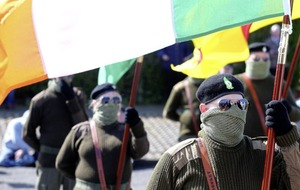 Video: Masked Easter Rising march in Lurgan in defiance of police
