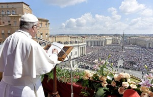 High security at Vatican as Pope Francis delivers Easter address