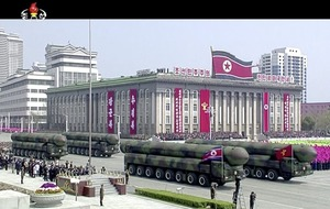 North Korea puts on show massive display of military hardware