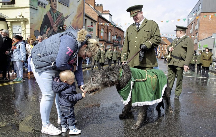 Thousands brave rain in west Belfast as city marks anniversary of Easter Rising
