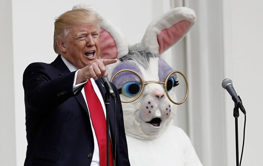 Trumps welcome 21,000 to their first Easter egg roll at White House