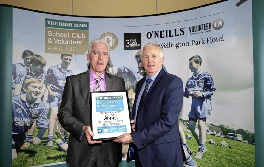 St Joseph's, Newry striding forward after Irish News Club Award success