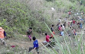 At least 26 people died after bus plunges into ravine in Philippines