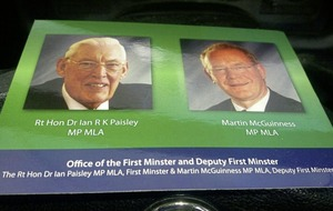 Posters, photos and even newspaper obituaries of Martin McGuinness for sale online