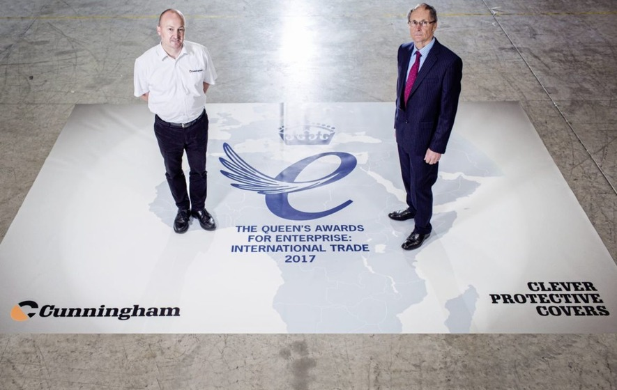 Tarpaulin maker Cunningham Covers nets Queen's Award for business