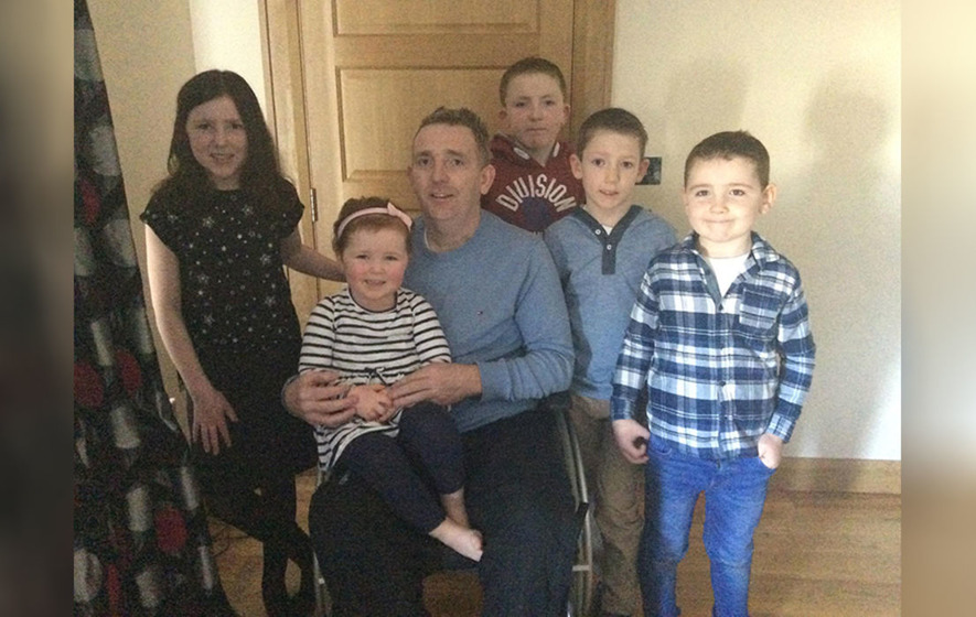 John McNaughton hopes stem cell treatment in Mexico will halt his MS symptoms