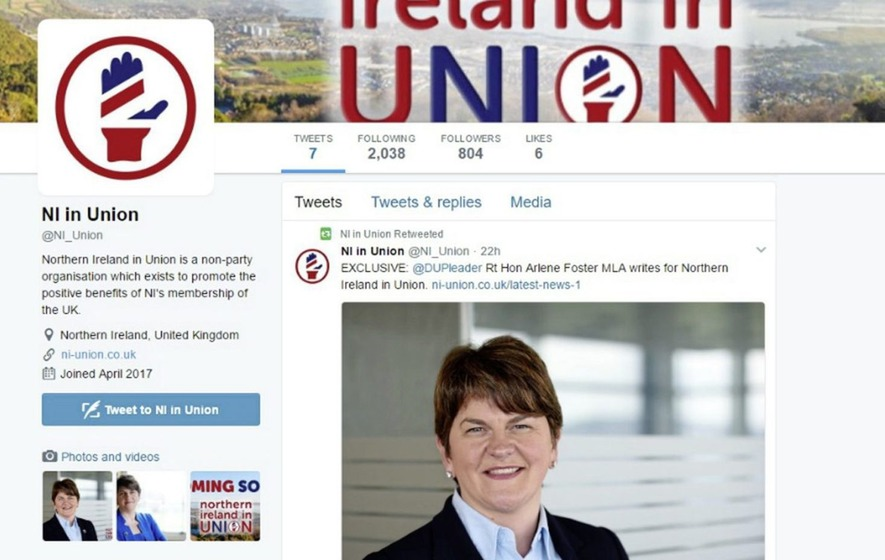 DUP says 'no connection' to new pro-union campaign group