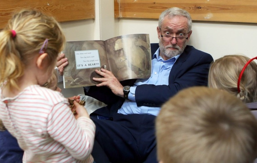 This is the story we imagine Jeremy Corbyn was telling schoolkids today...
