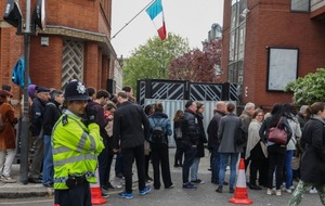 Hopefully French voters in London didn't have plans today because they faced long queues at the polls