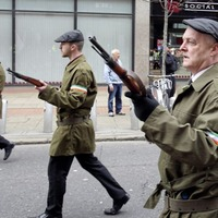 Heavy police presence for Easter Rising parade and counter protest