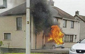 Car arson attack on house thought to be linked to loyalist feud