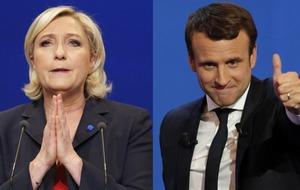 Head to head: Marine Le Pen v Emmanuel Macron