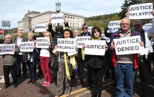 Child abuse survivors in Stormont march for justice