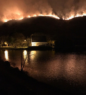 Raging gorse fire in scenic Gougane Barra valley in Co Cork leaves 'black landscape'