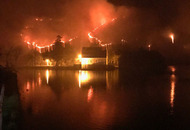 Galway fire could trap onlookers, gardai warn