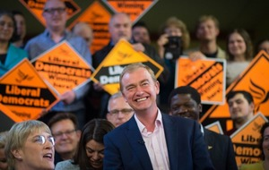 This Liberal Democrat election event looked almost like something from the American campaign trail