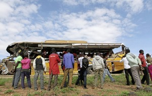 Kenyan bus crash leaves 27 people dead