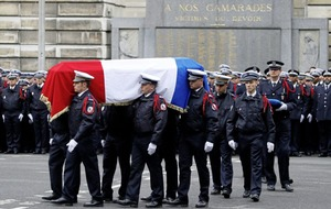 Ceremony held in honour of the French police officer killed by an Islamic extremist